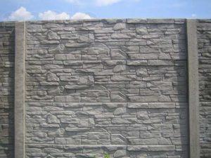 Забор бетонный сланец