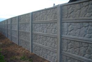 Забор бетонный сборный
